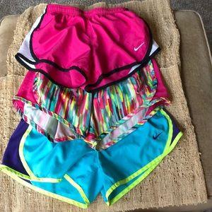 Kids Nike running shorts euc small medium lot of 3